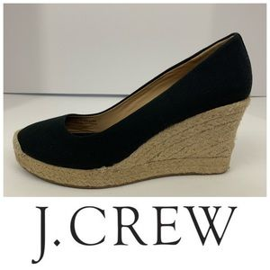 "J. Crew ""Seville"" Canvas Espadrille Wedges"
